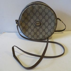 GUCCI GG MONOGRAM LEATHER CIRCLE PURSE